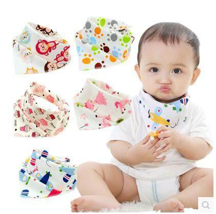 ผ้าเช็ดหน้าเด็ก ผ้าซับน้ำลาย ผ้าผูกคอแบบสามเหลี่ยม ผ้ากันเปื้อนผ้าฝ้ายทรงสามเหลี่ยมลายการ์ตูนสำหรับเด็ก ผ้ากันเปื้อน ผ้ากันเปื้อนสำหรับเด็ก