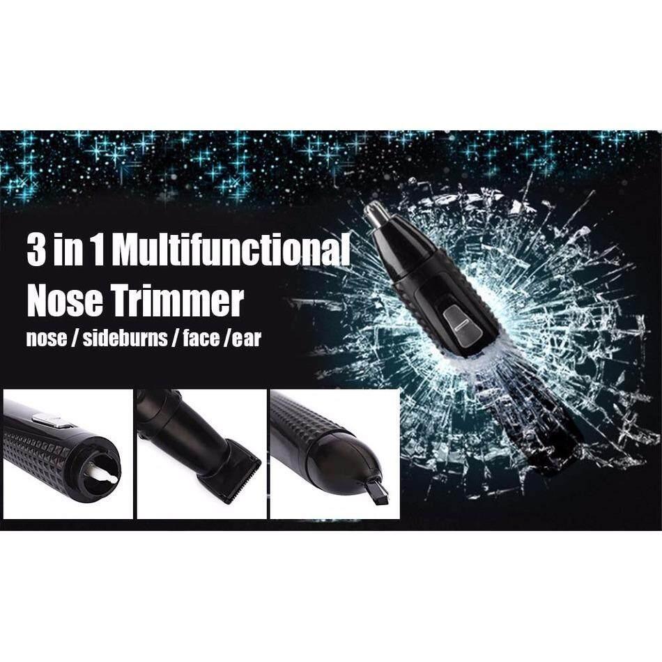 ซื้อ เครื่องโกนหนวด ตัดแต่งขนจมูก รูหู กรรจอน และโกนหนวด Kemei 3 In 1 Km 309 Nose Eyebrow Trimmer Kemei Km 309 3 In 1 Rechargeable Electric Ear Nose Hair Trimmer Sideburns Cutter Cleaner ถูก Thailand