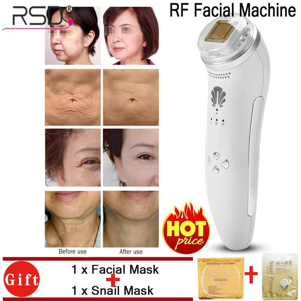 【แถมฟรี&ส่งฟรี】! ! !Face Massage Tightening Reomve Wrinkles RF Radio Frequency Machine EU Plug
