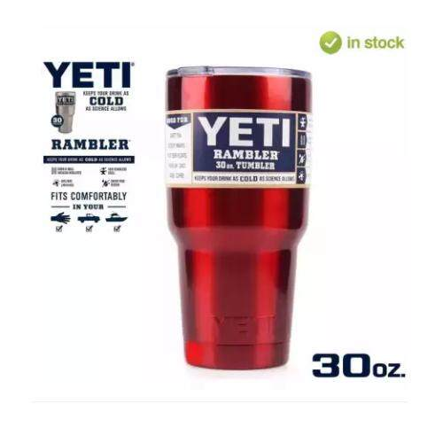 ขาย Yeti Rambler แก้วเก็บความเย็น เก็บน้ำแข็งได้นาน 24ชั่วโมง สีสแตนเลส ถูก