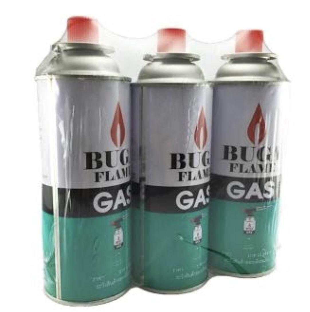 แก๊สกระป๋องสำหรับเตาพกพา ขนาด 375 ml. (แพ็ค 3 กระป๋อง).