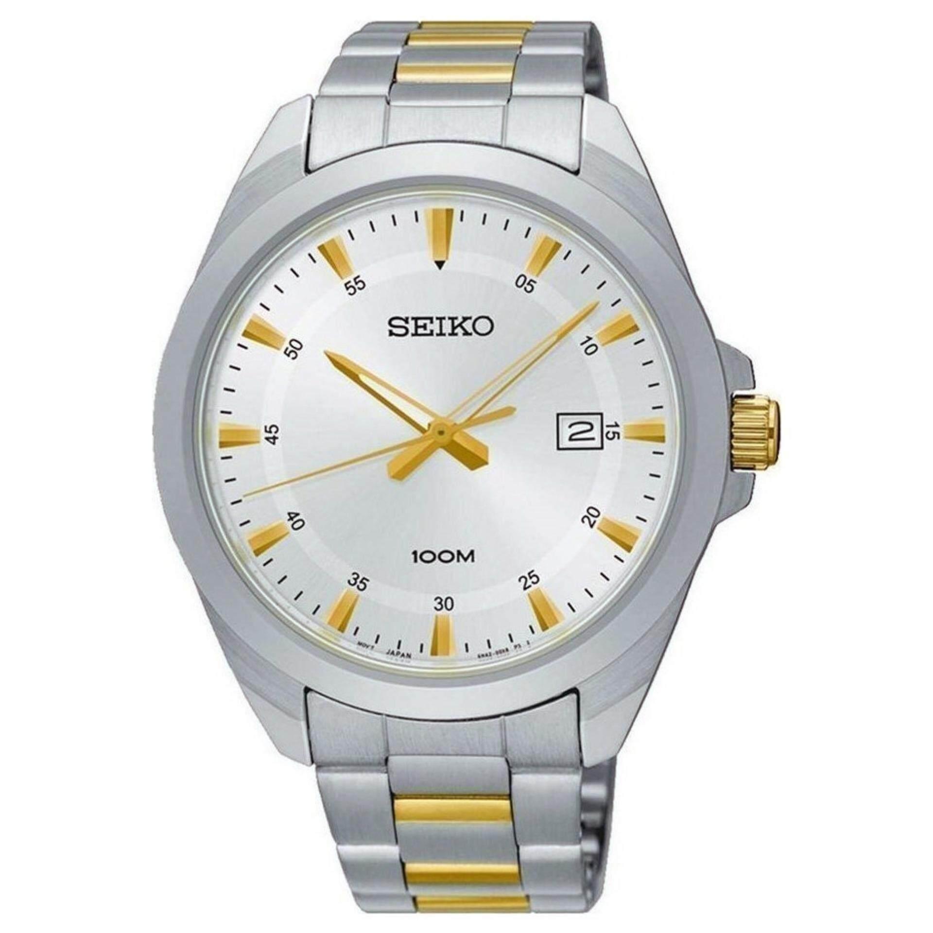 สอนใช้งาน  เพชรบุรี Karnvera Shop นาฬิกาข้อมือชาย Seiko Men s SUR211P1 Two-tone Stainless Steel Watch