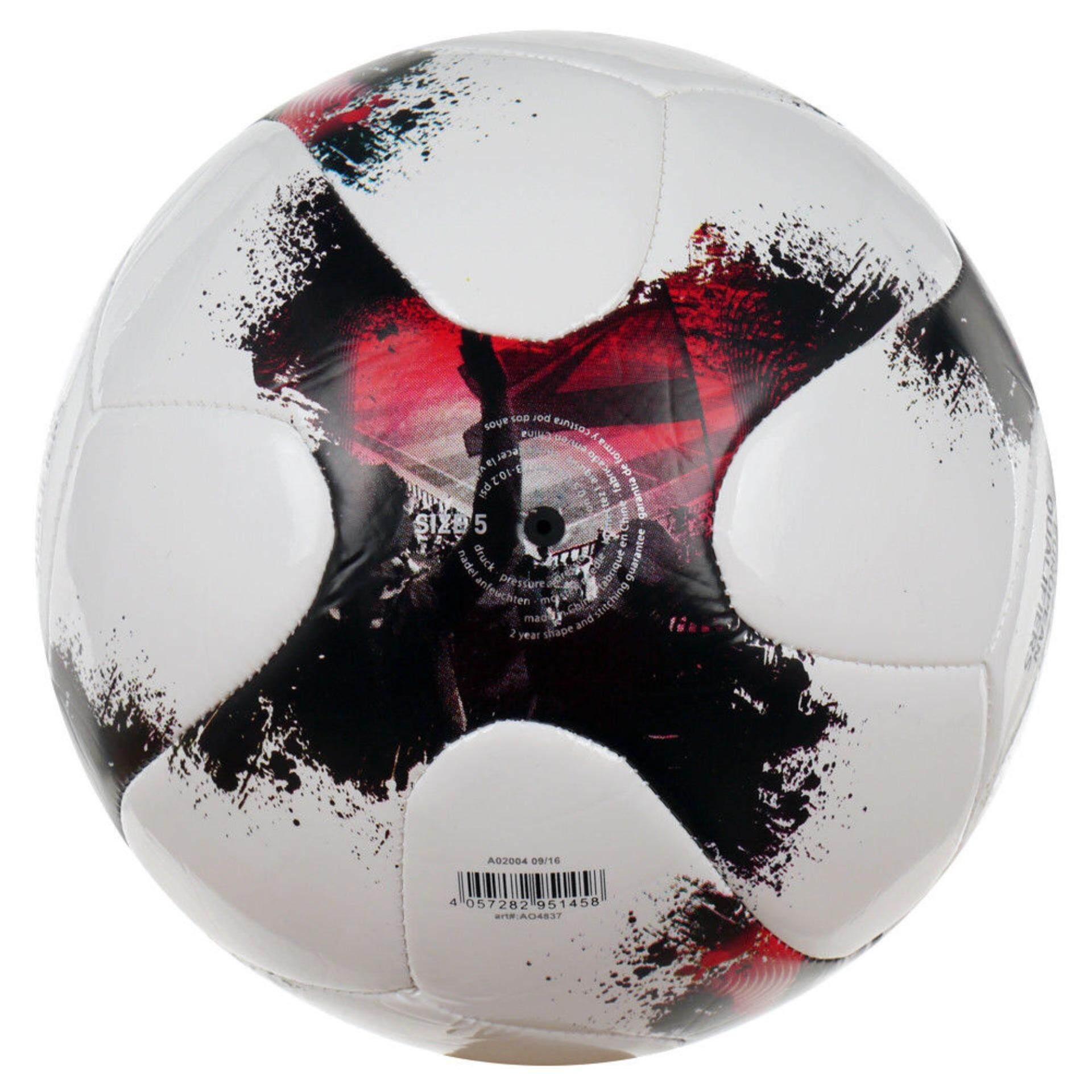ยี่ห้อนี้ดีไหม  ฟุตบอลหนังเย็บ adidas EUROPEAN QUALIFIERS GLIDER  (AO4837) SIZE 5 สีขาว/แดง/ดำ