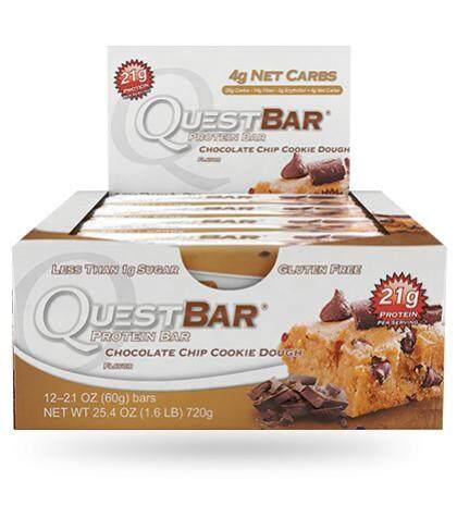 Quest Bar Chocolate Chip Cookie Dough 1 Box.