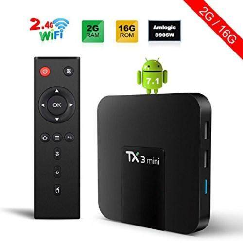 การใช้งาน  ระยอง Android TV Box Android 7.12TV Box TX3 Mini 2GB/16GB Amlogic S905W Quad core 64 Bits WIFI Smart 4K TV Box