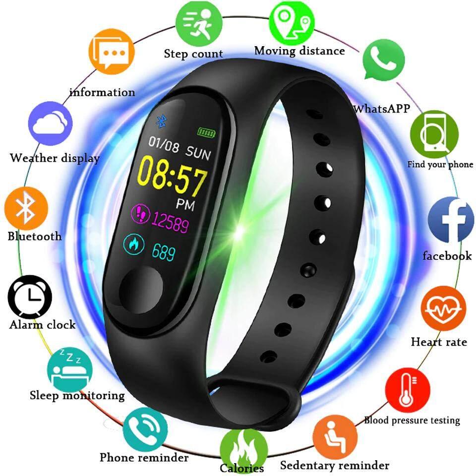 นาฬิกา M3 Smart Watch นาฬิกาวัดหัวใจ วัดการวิ่ง เดิน แจ้งเตือนการโทรเข้า ข้อความ ด้วยโหมดอัจฉริยะบลูทูธ ด้านการออกกำลังกายตาม Lifestyle ของคุณ รุ่น M3 By Magicthai.