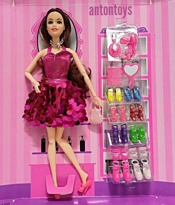Nova Toys ตุ๊กตาบาบี้ แฟชั่น งอแขน งอขาได้ + รองเท้า 8 คู่.