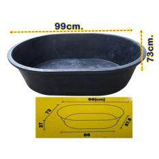 PTK อ่างเปล อ่างผสมปูน ถังน้ำ รูปไข่ ความจุ 140ลิตร รุ่นW-140