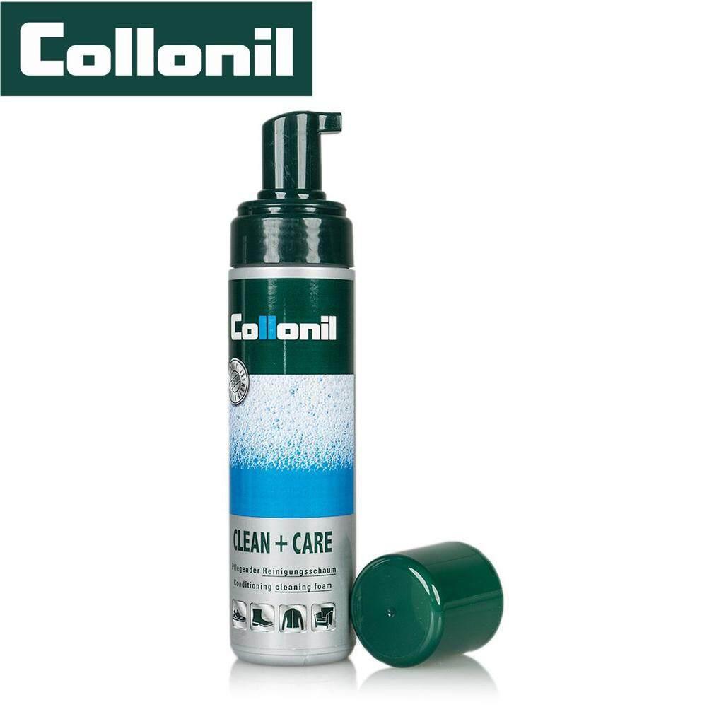 Collonil Clean + Care โฟมทำความสะอาดเอนกประสงค์ ใช้ได้กับวัสดุทุกชนิด สามารถทำความสะอาดขจัดคราบฝังลึกได้.