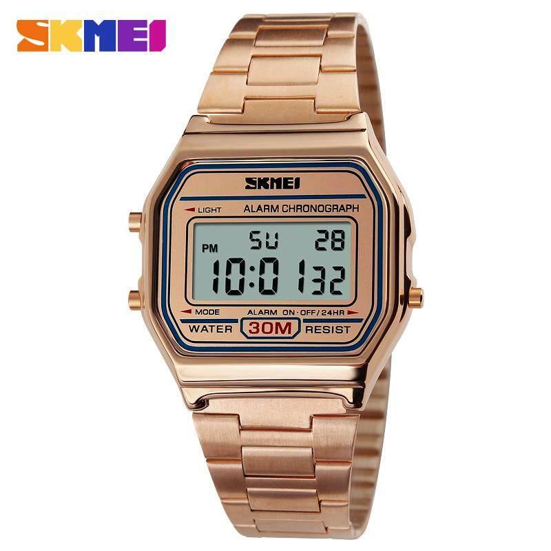 Skmei 1123 Fasion Digital Watch ของแท้ 100% ส่งในไทยไวแน่นอน นาฬิกาข้อมือผู้หญิงผู้ชาย สไตล์ Casual Bussiness Watch แฟชั่น จับเวลา ตั้งปลุกได้ ไฟ Led ส่องสว่าง Sk-M1123 By Lk Wow.