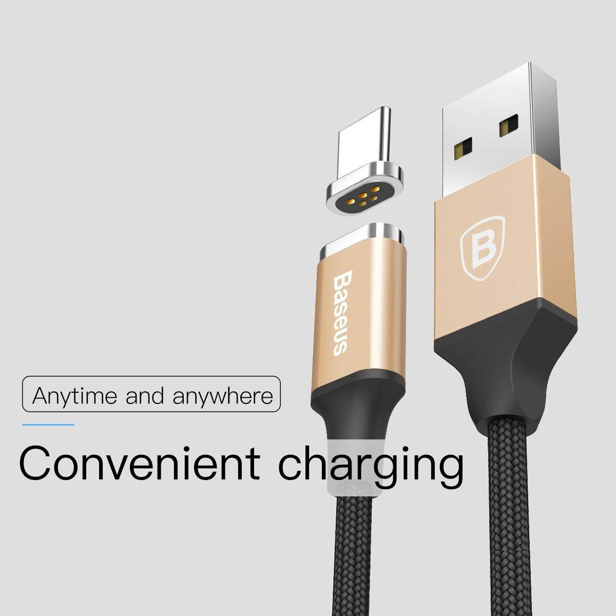 ซื้อ Baseus Magnetic Typec Usb Cable Adapter สายชาร์จ สายชาร์จแบต Charging Cable Mini Magnet Charger For Huawei P9 P9Plus P10 Plus Mate9 Pro Samsung S8 Plus Note8 C9 Pro Type C Baseus ออนไลน์