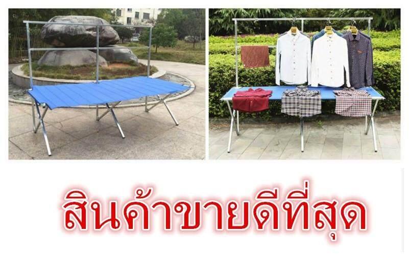 โต๊ะขายของแบบพับเก็บได้ (ความยาว2m) จัดส่งภายใน 48 ชม. By Shop Tukta.