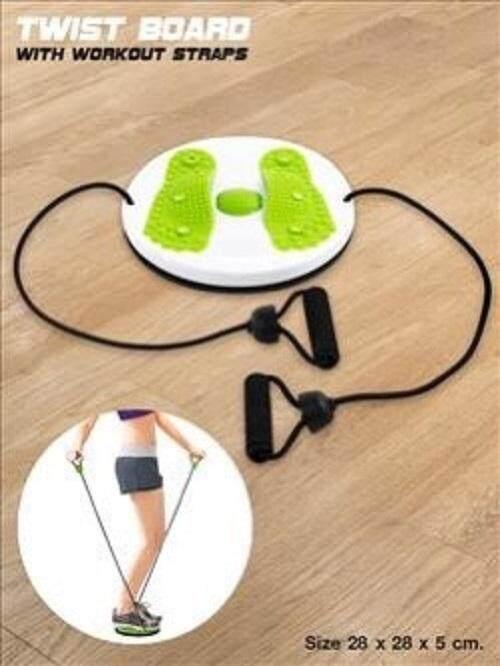 จานทวิสต์ออกกำลังกายพร้อมเชือกดึง  Massage Your Waist Turning Plate Twist Exercise Trainer With Pull String..