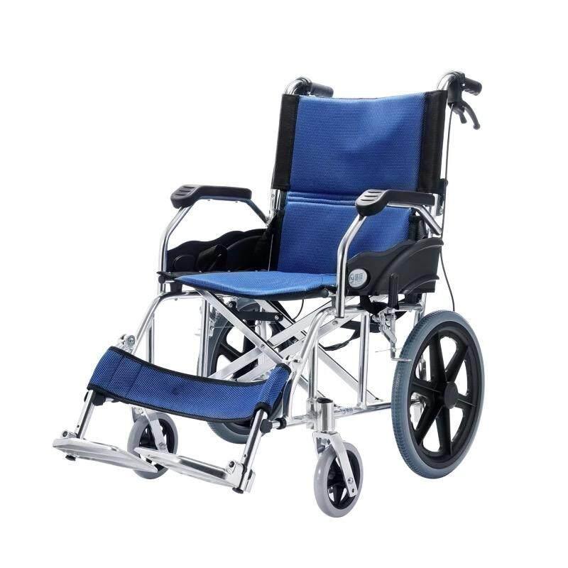 สุดยอดสินค้า!! รถเข็น (วีลแชร์- Wheelchair) สำหรับผู้สูงอายุ ผู้พิการ พกพาสะดวก (รุ่น 863-16) – มีรับประกัน