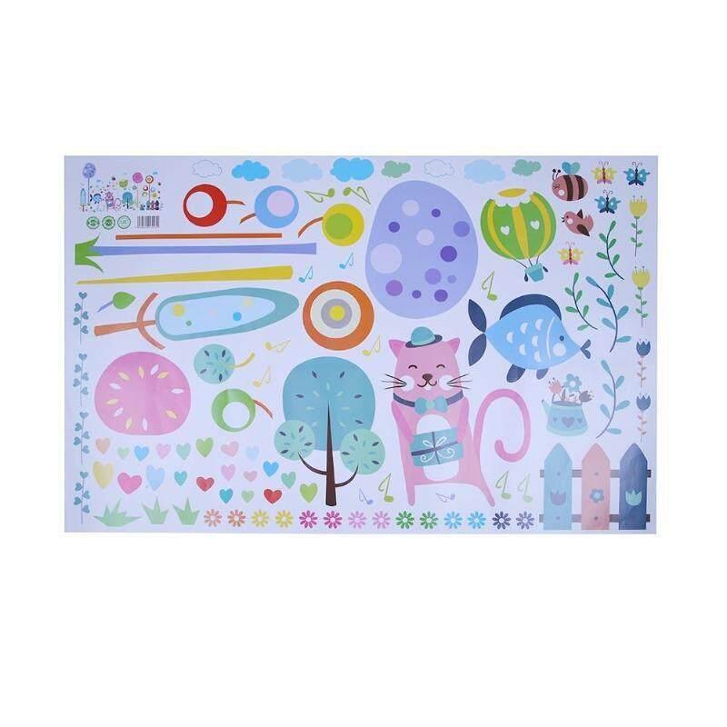 ++สินค้าคุณภาพ++ Cartoon Kitten Tree Wall Stickers Kindergarten Kids Room Background Decor By 1004brucebsmith.