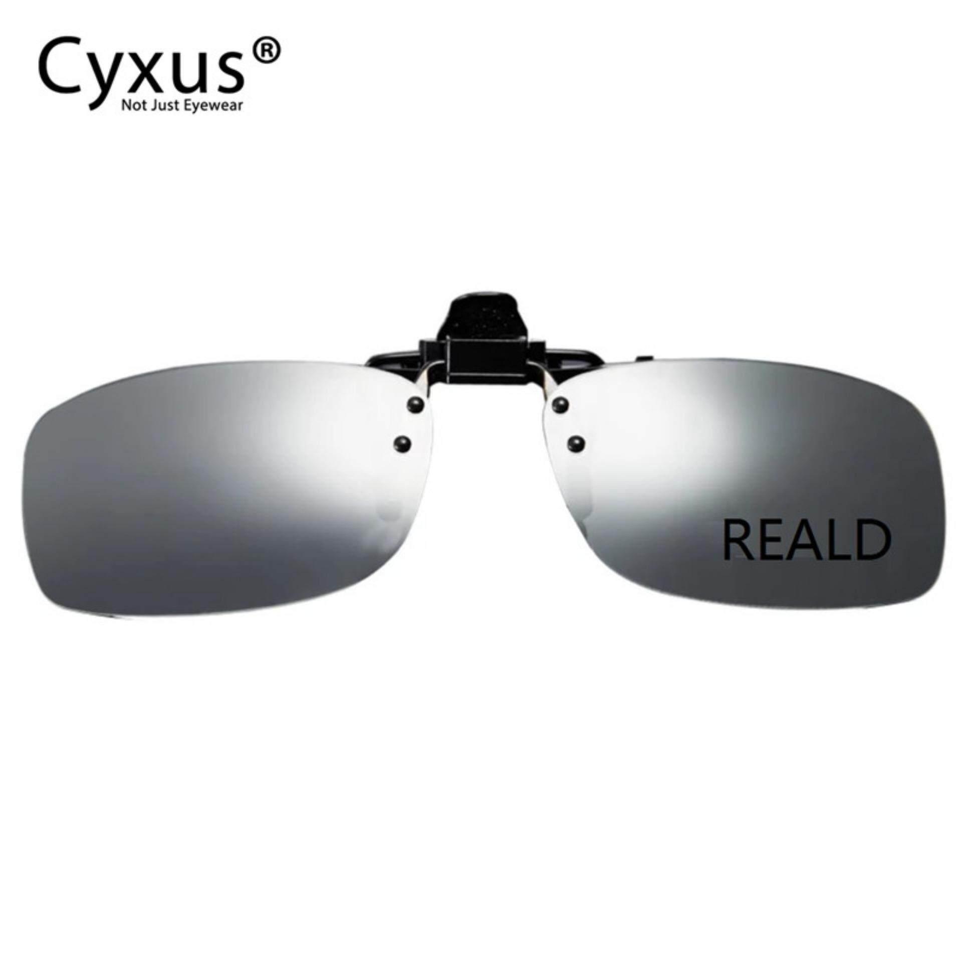 Cyxus Clip-On 3d Reald แว่นตามีความละเอียดสูงเพิ่มความคมชัด.