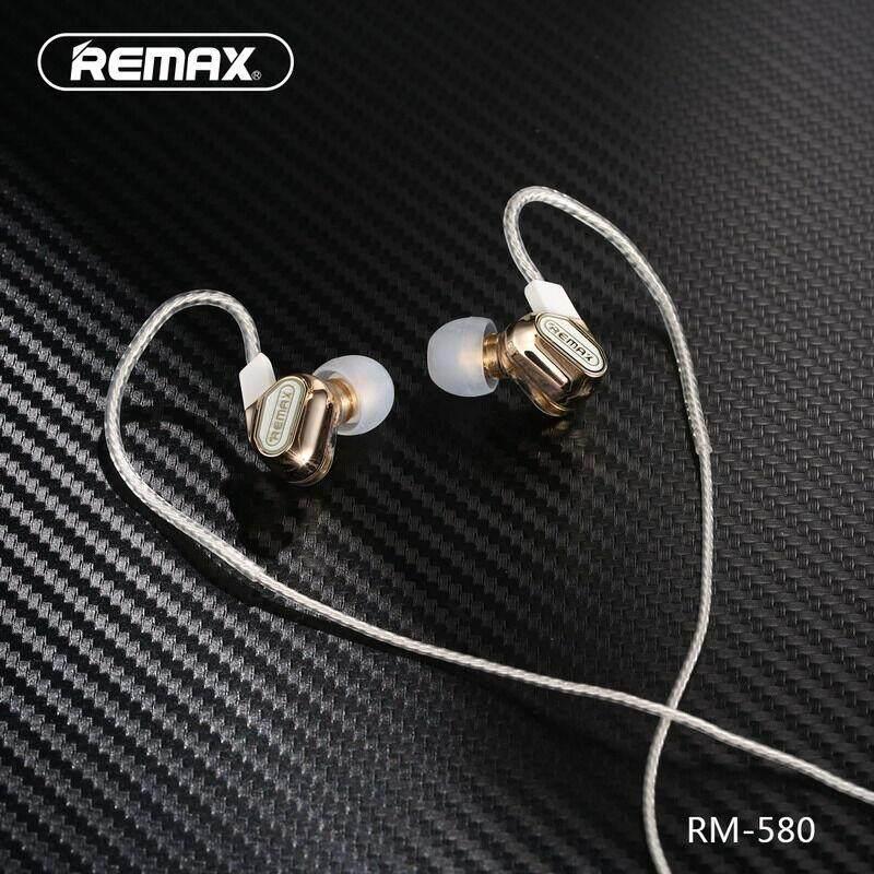 เก็บเงินปลายทางได้ [Wevery]- REMAX RM-580 Double Moving-coil Earphone หูฟัง remax หูฟัง ส่ง Kerry เก็บปลายทางได้