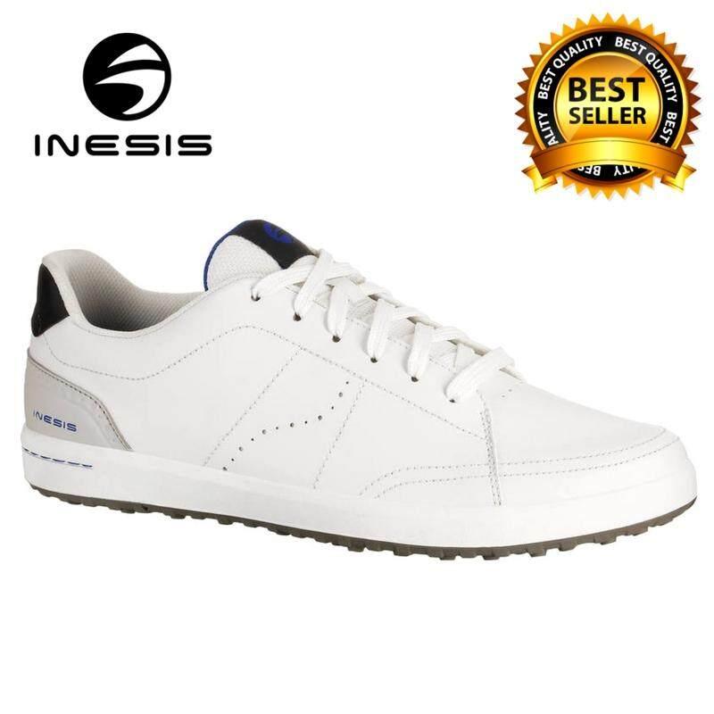 รองเท้ากอล์ฟ รองเท้ากอล์ฟไร้ปุ่มยาง รองเท้าใส่เล่นกอล์ฟ รองเท้ากีฬา สำหรับผู้ชาย Inesis 100 (สีขาว) ให้คุณรู้สึกสบายทั้งในสนามกอล์ฟและในเมือง ด้วยรองเท้ากอล์ฟอเนกประสงค์ 100% คู่นี้! By The Exclusive Shop.
