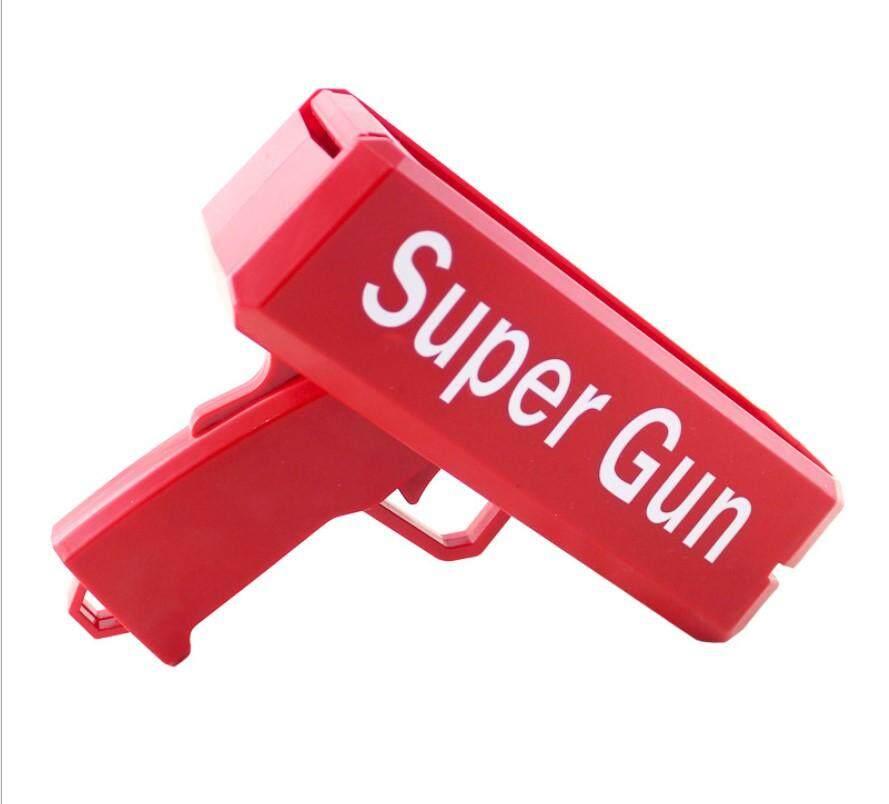 Super Gun ปืนยิงแบ้งค์มีไฟใช้ถ่าน ของเล่นปืนยิงธนบัตร ปืนสายเปย์ ปืนยิงแบงค์ สามารถยิงแบ้งได้จริง ปืนยิงธนบัตร Super Gunเอาไว้ให้คุณอวดรวยแจกเงิน พร้อมธนบัตร 50 ใบ By Mor-Most
