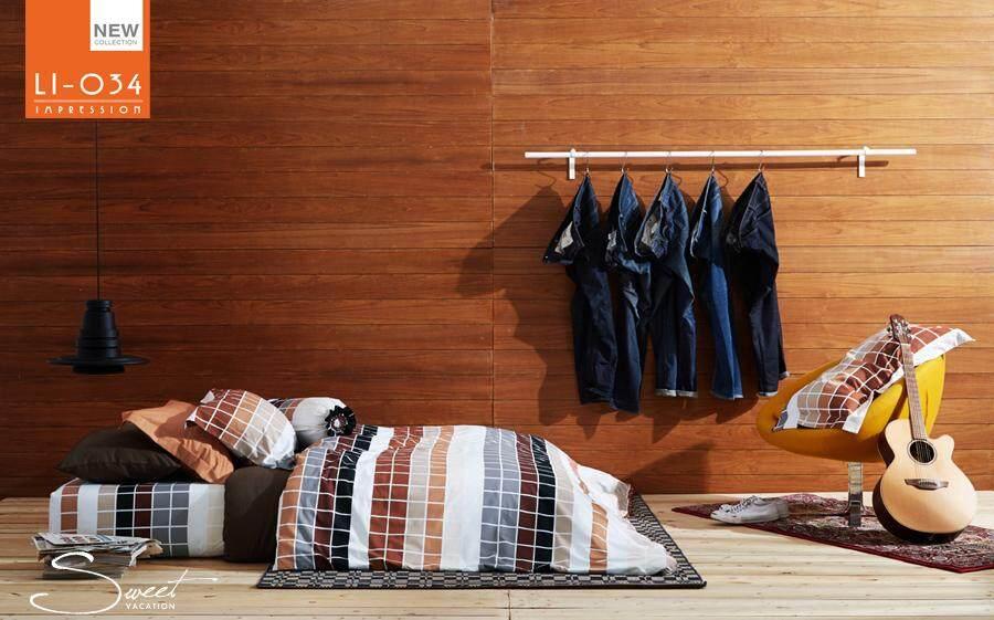 ขายดี!! Lotus Impression ชุดผ้าปูที่นอน + ผ้านวม ลายพิมพ์ รุ่น - Li-034.