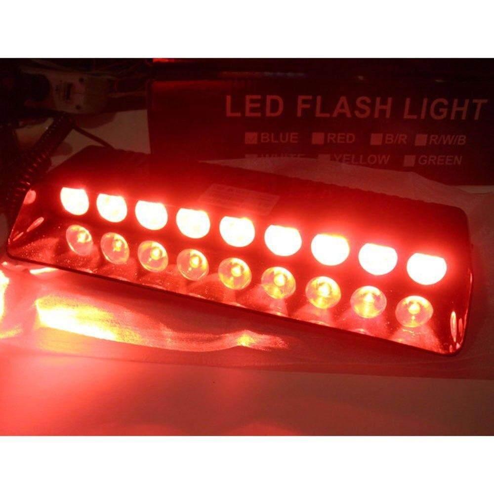 สีแดงล้วน ไฟไซเรน ติดกระจก รุ่น s1   led  9 หลอด.