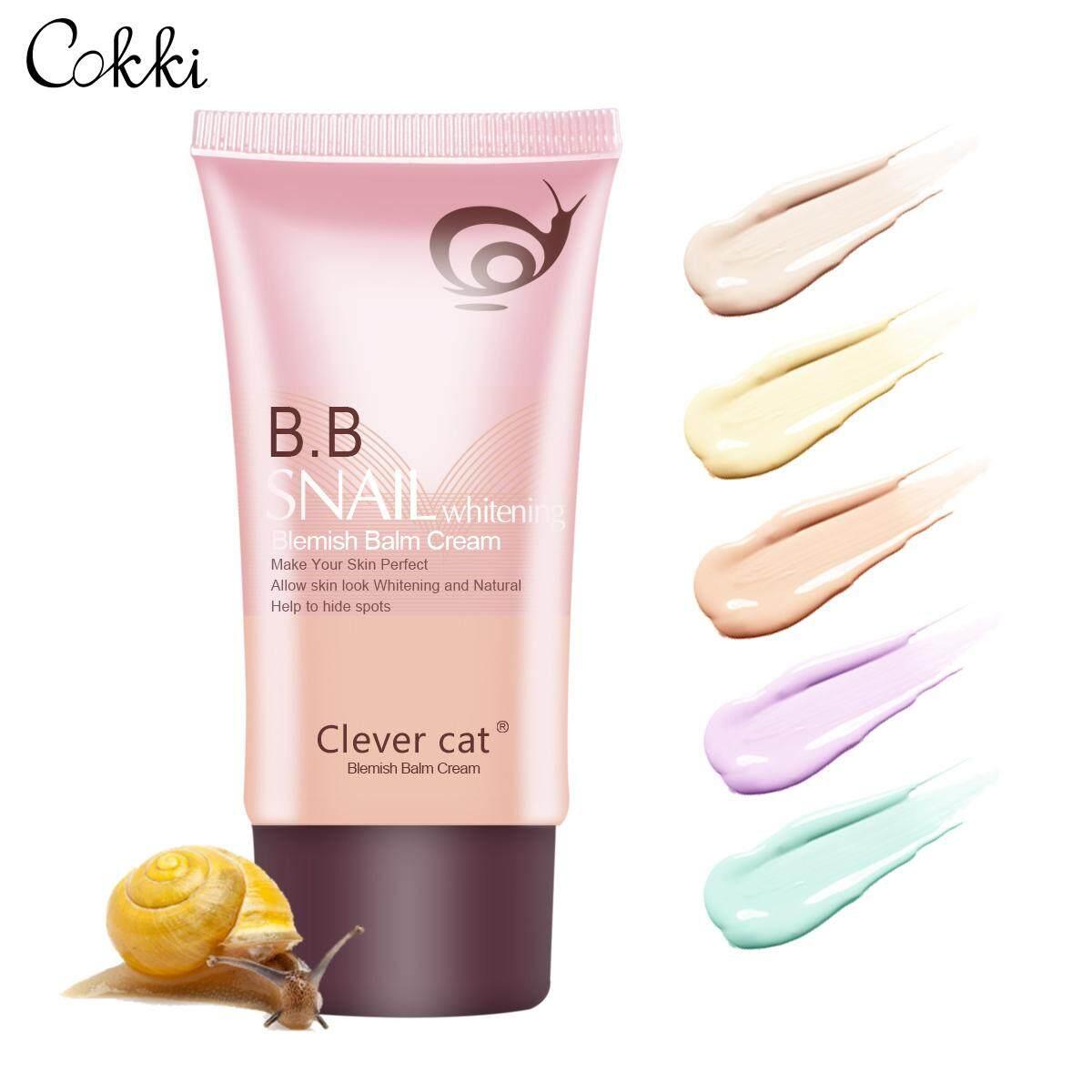 Clever Cat  8458 Bb Cream Face Care Foundation Base Bb Cream Perfect Cover Facial Whitening Concealer Primer-Cokkicosmtic การบำรุงรักษาความชุ่มชื่น หอยทาก บำรุงผิวขาว ครีมรองพื้น.