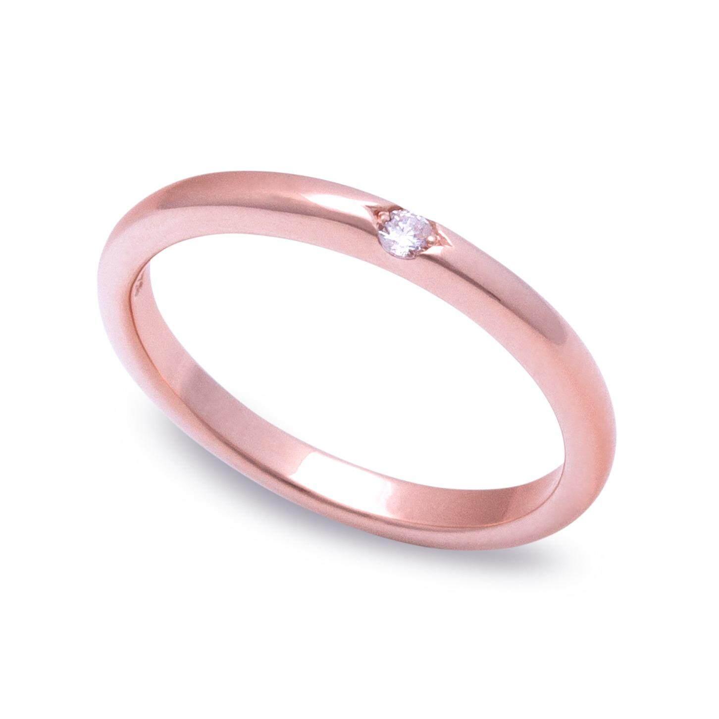 ขาย Fly G*rl Jewelry แหวนเพชรCz เกรดพรีเมี่ยม แหวนเงินแท้ชุบทองพิงค์โกลด์ ราคาถูกที่สุด