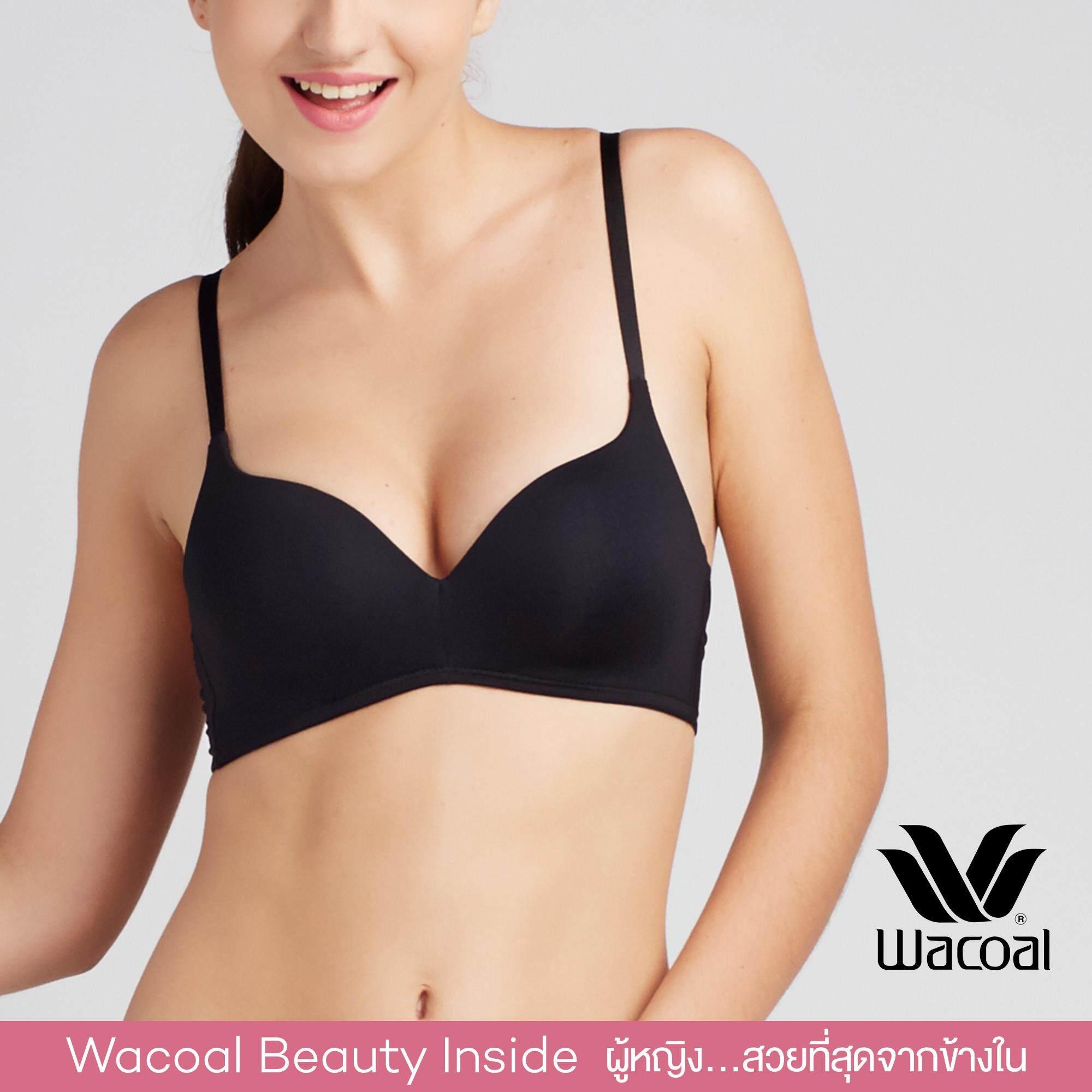 Wacoal Best Seller Wireless bra บราไร้โครง 3/4 Cup (สีดำ/BLACK) - WB5577BL