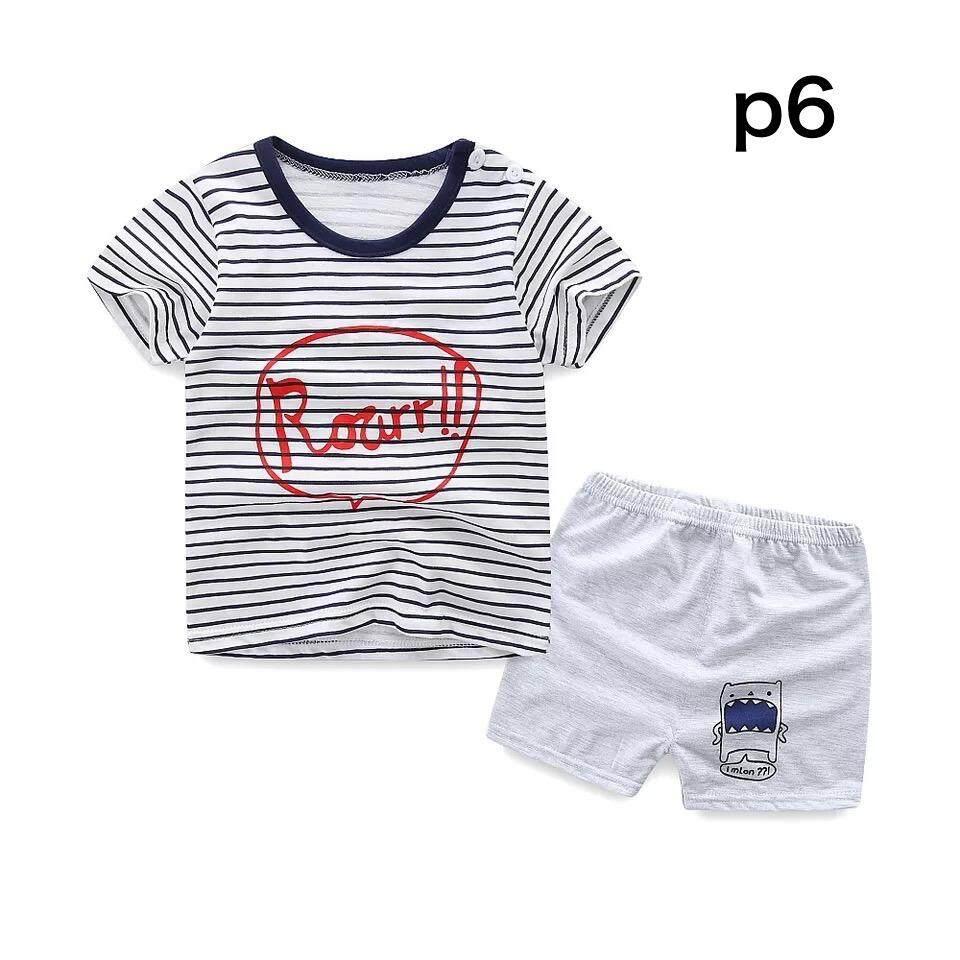 ❤️sale! เด็ก ชุดนอน  เซต 2 ชิ้น เสื้อ+กางเกงขาสั้น ไซส์ 80—110cm / 9 เดือน-4ปีใส่สบายเนื้อผ้า Cotton .