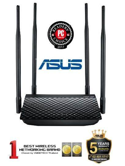 Asus Router (เราเตอร์) [rt-N800hp] N800 High Power Gigabit Port Support Ap Repeater Client-Warranty 5 - Y.