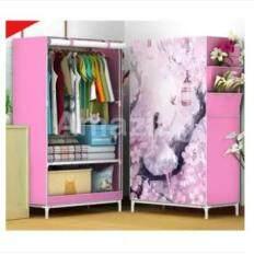 ตู้เสื้อผ้าที่น่าตื่นตาตื่นใจ 1 บล็อค สีการ์ตูนตัวอักษร 69 * 41 * 150 ซม. ตู้เก็บของ