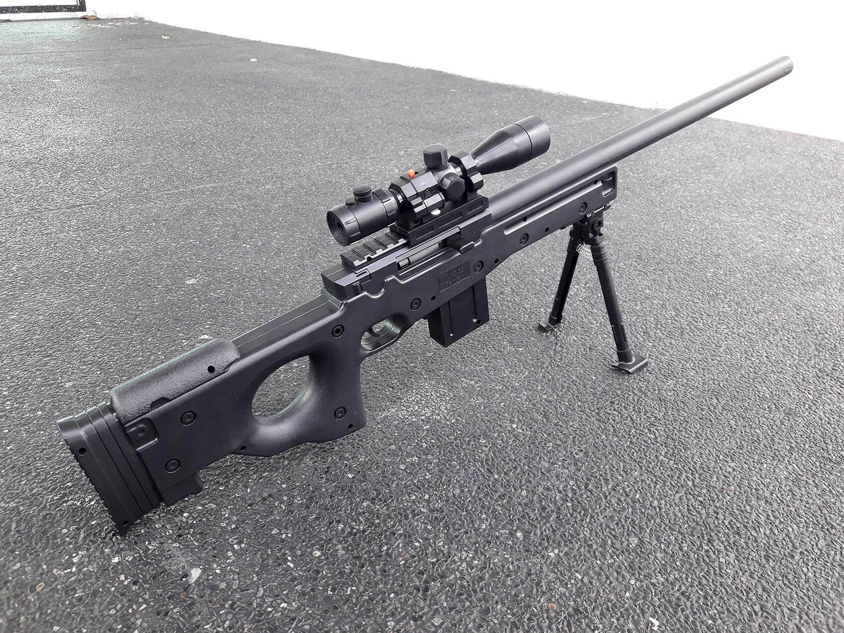 Khoaoat Toys ปืนอัดลม ปืนสไนเปอร์อัดลม ลำกล้องติดเลเซอร์ บอดี้พลาสติกแข็ง รุ่น Mt.991 By Khoaoat Toys.