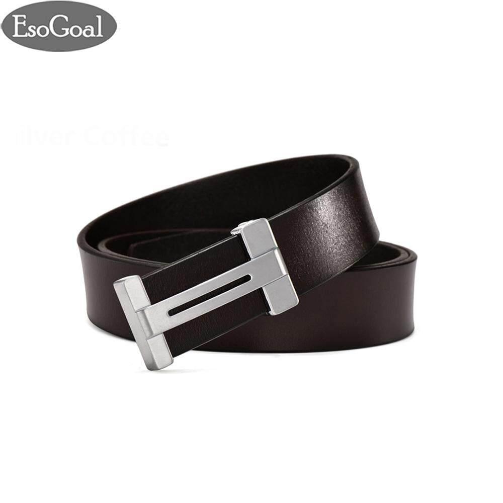 ขาย Esogoal สำหรับผู้ชายแบบ Esogoal H เข็มขัดหนังพร้อมหัวเข็มขัดแบบถอดได้ Business Casual Leather Belt 120 เซนติเมตร Esogoal เป็นต้นฉบับ
