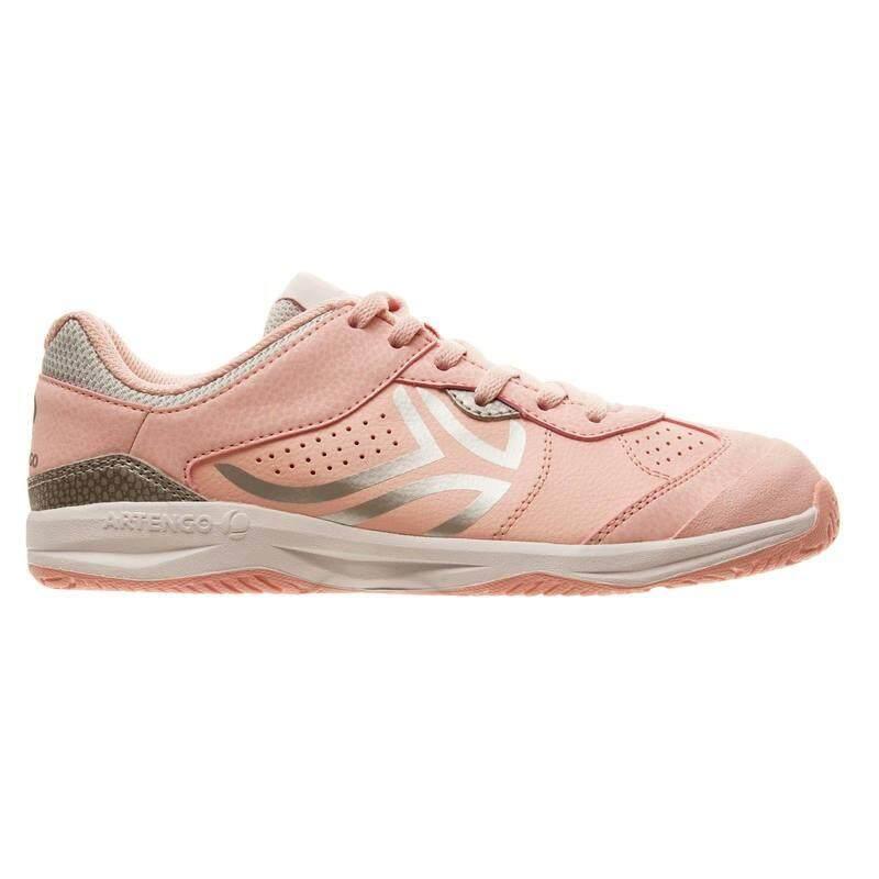 รองเท้าเทนนิส รองเท้ากีฬา สำหรับเด็กผู้หญิง(สีชมพู).