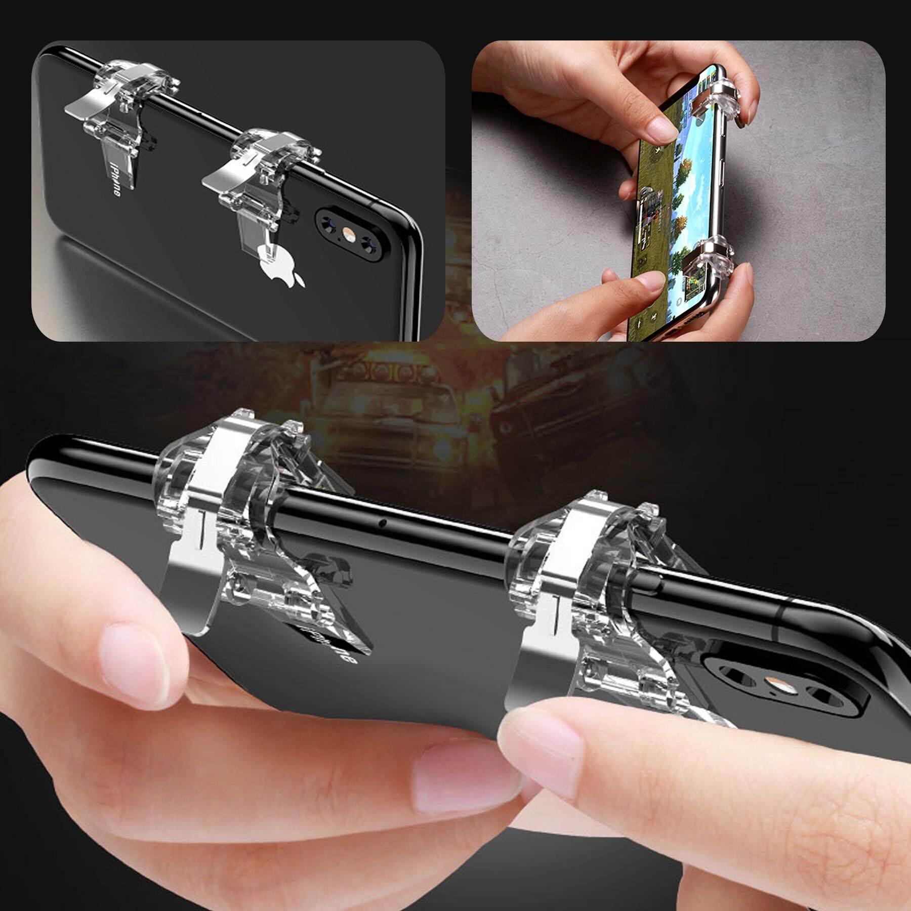 Mobile Joystick จอยสติ๊ก ตัวช่วยยิงเกมแนว Pubg / Free Fire / Rules Of Survival รุ่นใหม่ Game Mobile Pubg เกมยิง Shooting Tap เกมโดดร่ม.