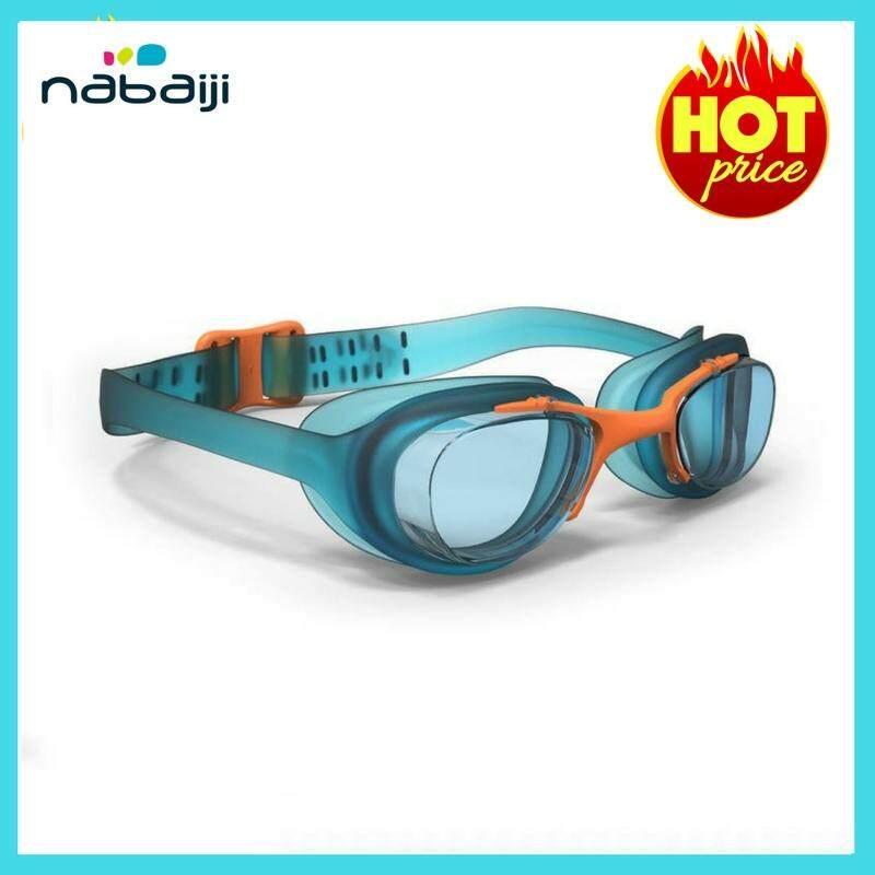 แว่นตาว่ายน้ำเด็ก XBASE JUNIOR (สีฟ้า/ส้ม)#ใส่สบายเป็นพิเศษ เข้ากับรูปหน้าอย่างสมบูรณ์แบบ รับประกันซีลกันน้ำเข้าอย่างยอดเยี่ยม