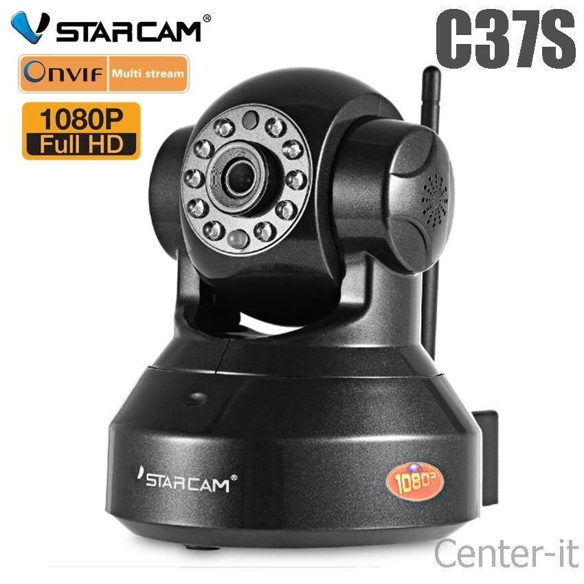 VSTARCAM กล้องวงจรปิด IP Camera 2.0 MP and IR CUT รุ่น C37S WIP HD ONVI - (Black)