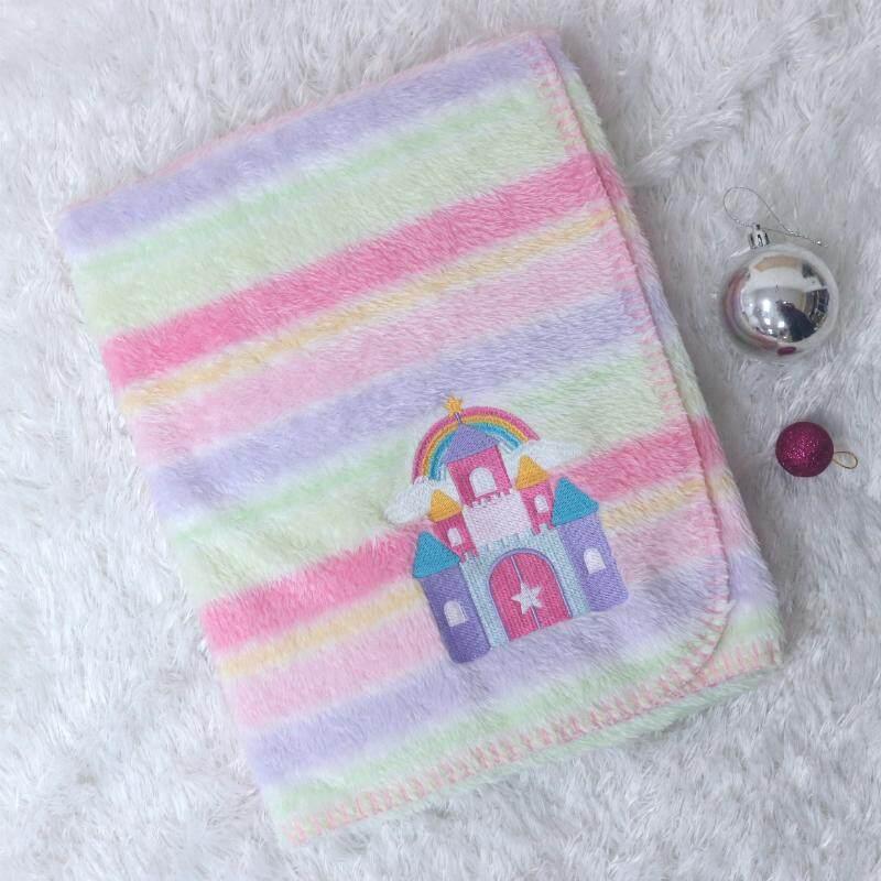 ขายดีมาก! ส่งฟรี Kerry ผ้าห่มเด็ก เรนโบว์ ปักลาย ยูนิคอร์น(Unicorn) และ ลายปราสาท (Castle) by josoco