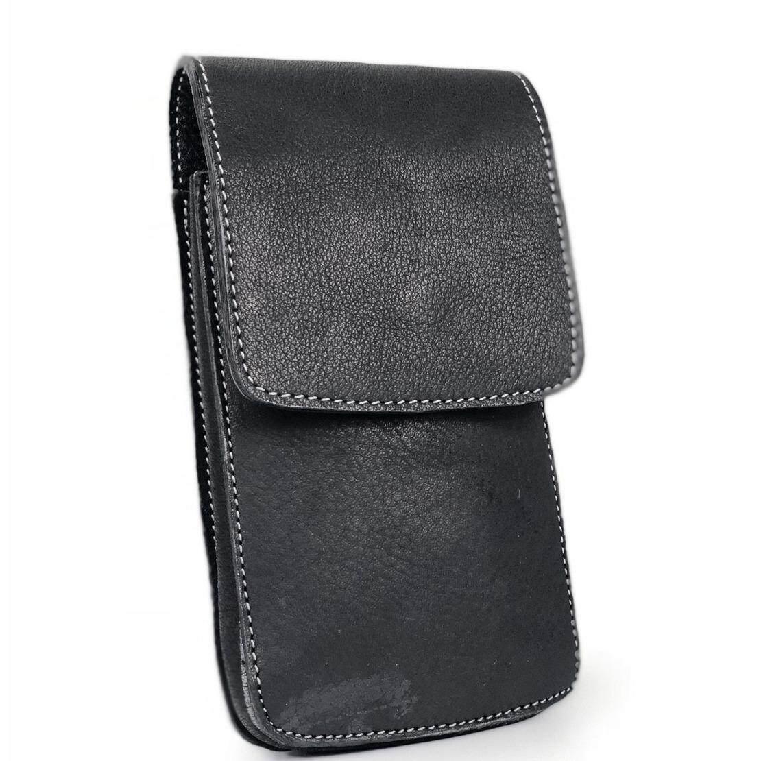 ทบทวน Chinatown Leather กระเป๋ามือถือหนังแท้ รุ่น ฝาตั้งครึ่ง Iphone8 Iphone10 สีดำ