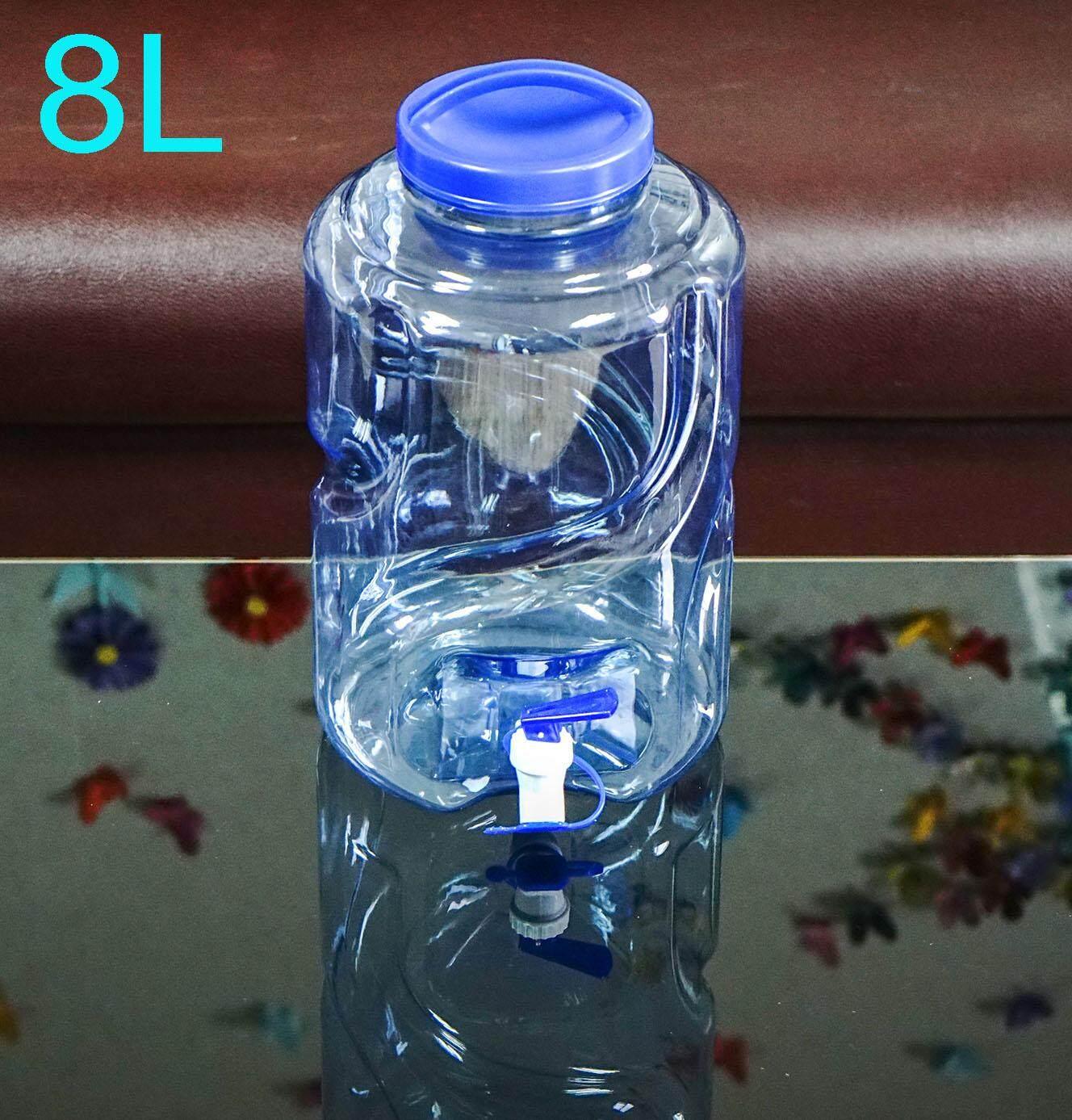ถังน้ำดื่ม Pet ขนาด 8 ลิตร ถังน้ำมีก๊อกพร้อมหูหิ้ว สำหรับใส่น้ำดื่ม รุ่น ลาย 6 Drinking Water Bottle ขวด ถัง ขวดน้ำ ถังน้ำ By Yongling2013.