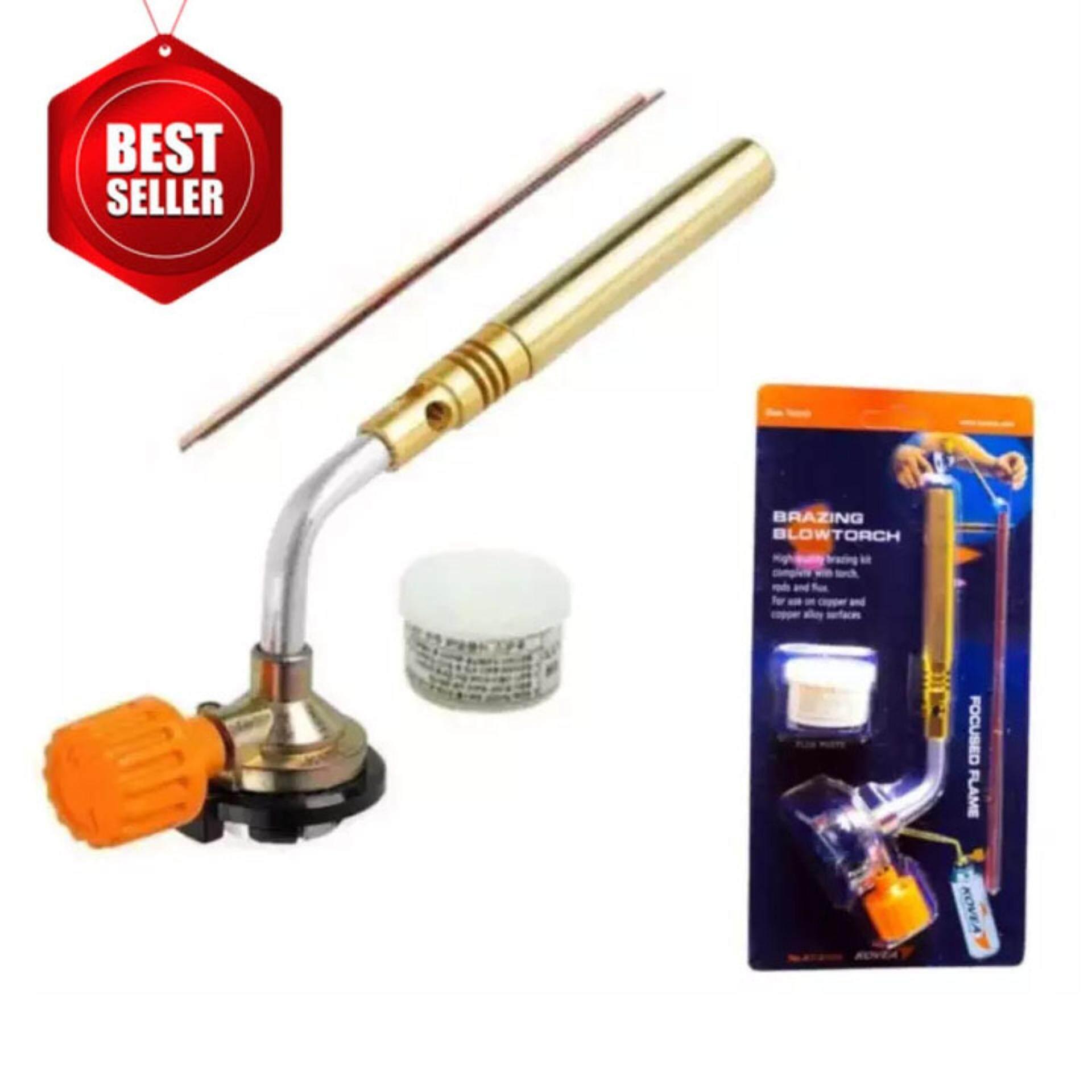 หัวพ่นไฟเอนกประสงค์ kovea  bbrazing gas torch kt-2104 หัวเชื่อมทองเหลือง เชื่อมท่อแอร์ เชื่อมท่อทอแดง สำหรับช่างแอร์ .
