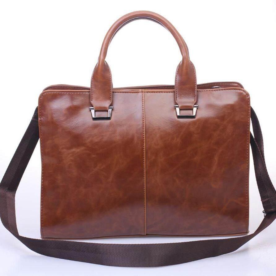 99e62a2e29 Tidog Mens Outdoor Leisure Bag Satchel Bag Handbag Business Computer Male  Business Bag . กระเป๋าถือ กระเป๋าสะพายไหล่ผู้ชาย Korean Style (สีกาเเฟ สีดำ)