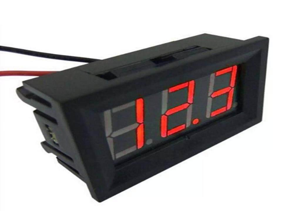 ดิจิตอล โวล์ทมิเตอร์ DC 4.5 - 30.0 V (Mini 0.36in DC 4.5V-30V 2-Wire LED Digital Display Panel Battery Voltmeter)