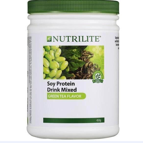 Nutrilite Soy Protein Drink Mix Green Tea Flavor 450G นิวทริไลท์ โปรตีน กรีนที รสชาเขียว 450G สินค้านำเข้าจากมาเลย์ ถูก