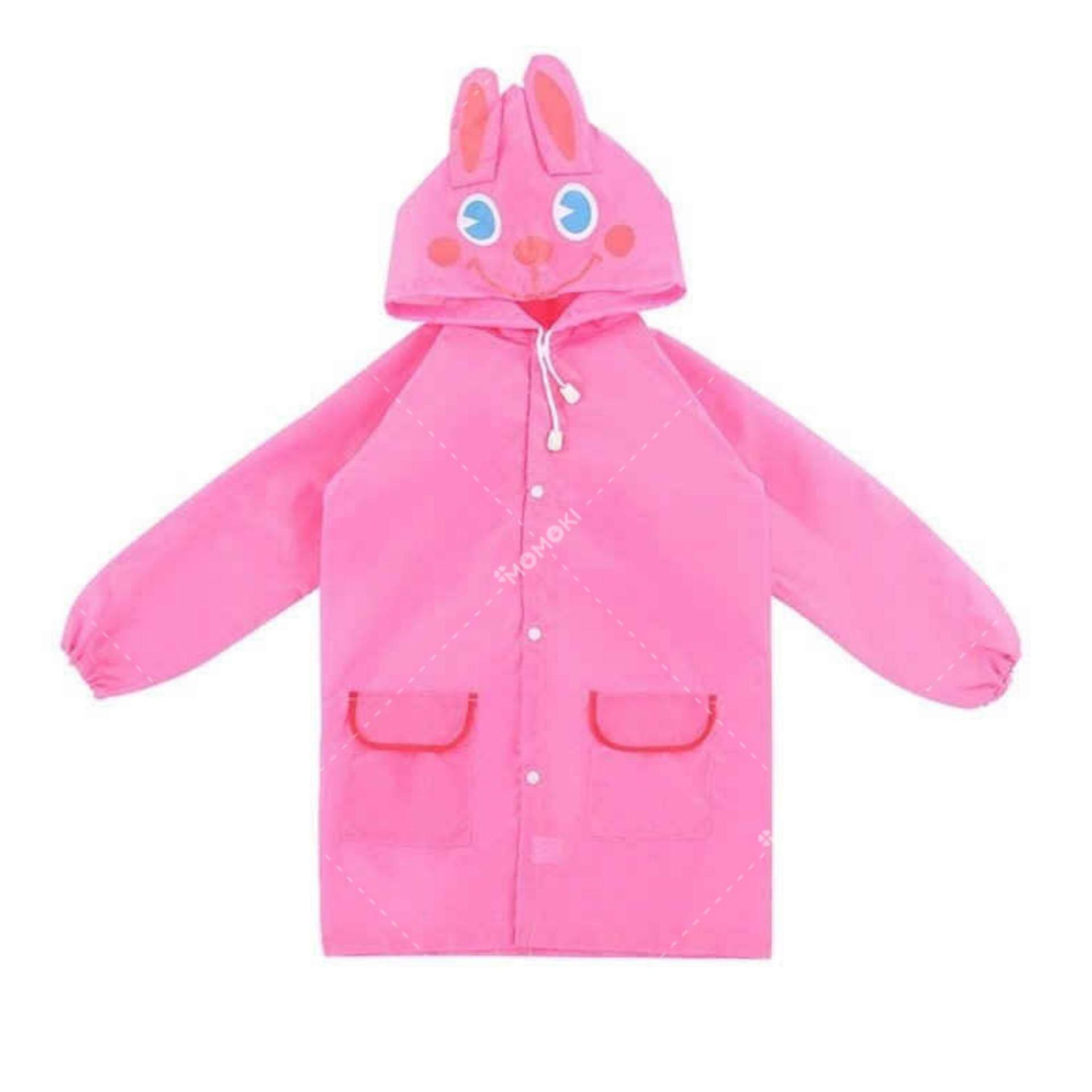 ขาย Kido เสื้อกันฝนเด็ก ลายกระต่าย Kid Cute Fashion Waterproof Rain Coat ชุดกันฝนลายการ์ตูน สุดน่ารัก รุ่น Kdk 0001 สีชมพู Pink ถูก ใน กรุงเทพมหานคร
