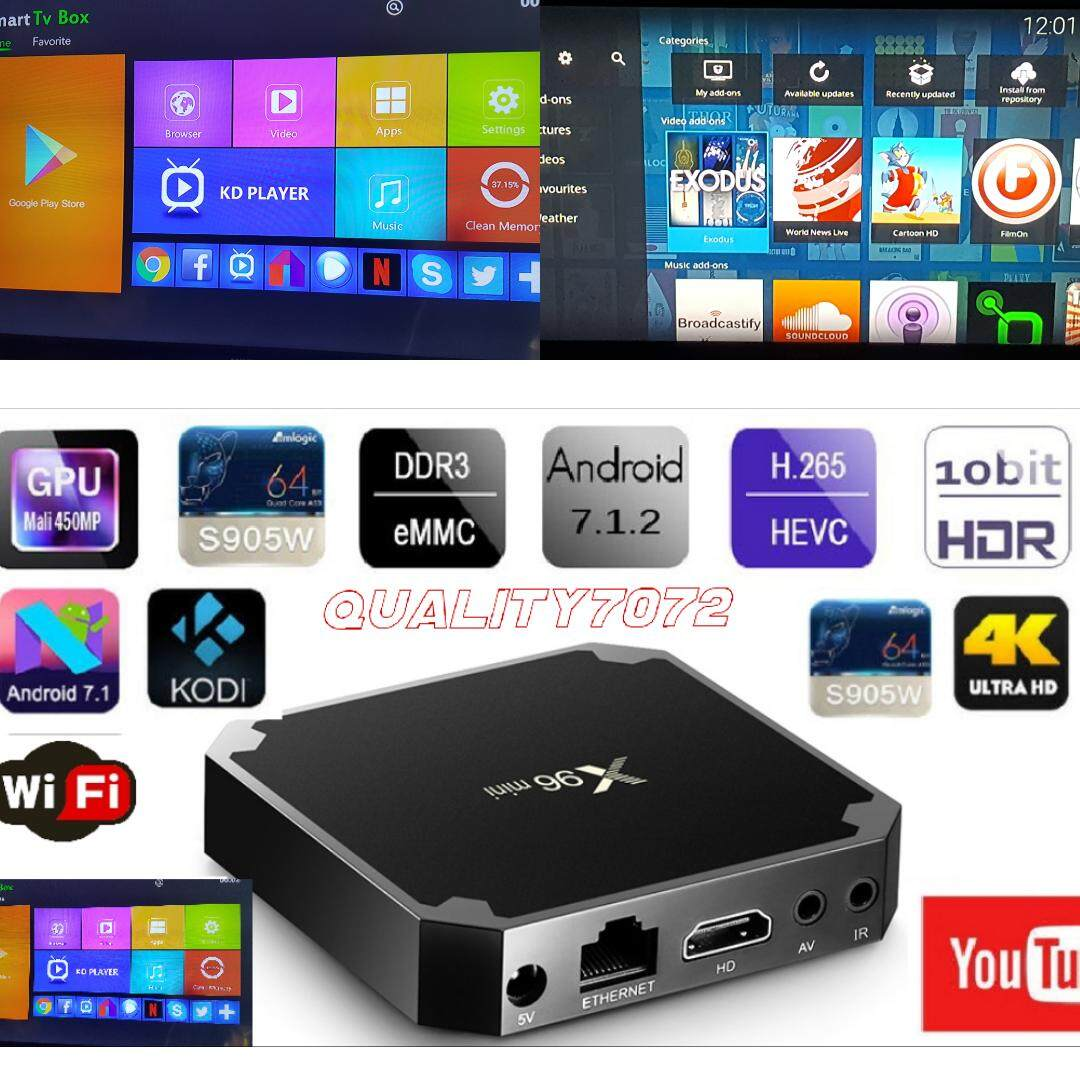 ยี่ห้อไหนดี  ยะลา X96 MINI Android 7.1.2 Smart TV BOX Quad Core 4K Media Player WIFI 1+8G HDMI 2.0