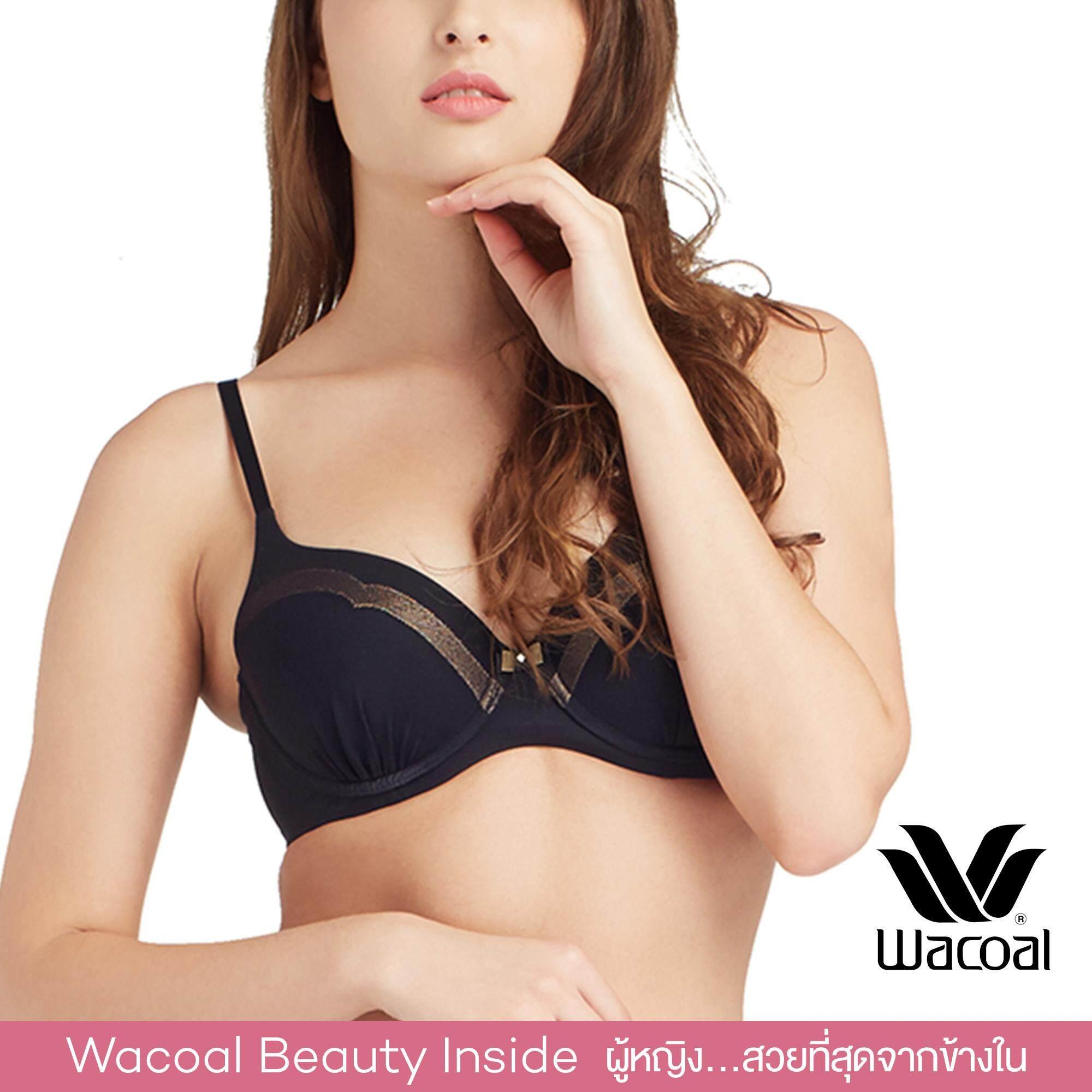 Wacoal Best Seller บราเก็บกระชับ 4/5 cup (สีดำ/BLACK) - WB7847BL