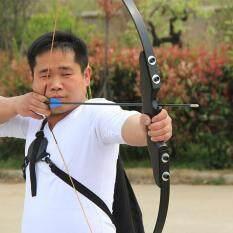 [มือขวา RH] 40LBS ธนู YINOW Wooden Handle Fiberglass Straight Bow Take-Down Hunting Fishing Archery ยีงธนู Code:YN-1