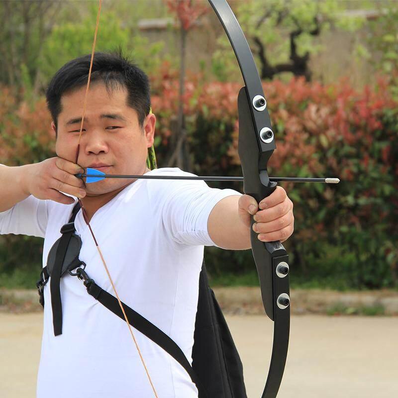 [มือขวา Rh] 40lbs ธนู Yinow Wooden Handle Fiberglass Straight Bow Take-Down Hunting Fishing Archery ยีงธนู Code:yn-1 By Potenza Intertrade Co., Ltd..