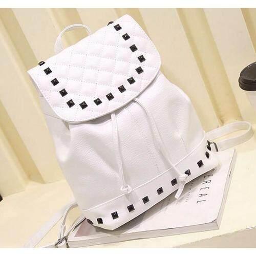 กระเป๋าสะพายหลัง กระเป๋าหนังแฟชั่น สำหรับผู้หญิง สีขาว ใน กรุงเทพมหานคร